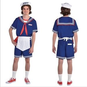 Adult Steve Scoops Ahoy Costume - Stranger Things